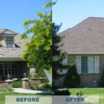 roofing replacement before and after